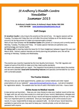 Our Summer 2015 Newsletter can be downloaded here